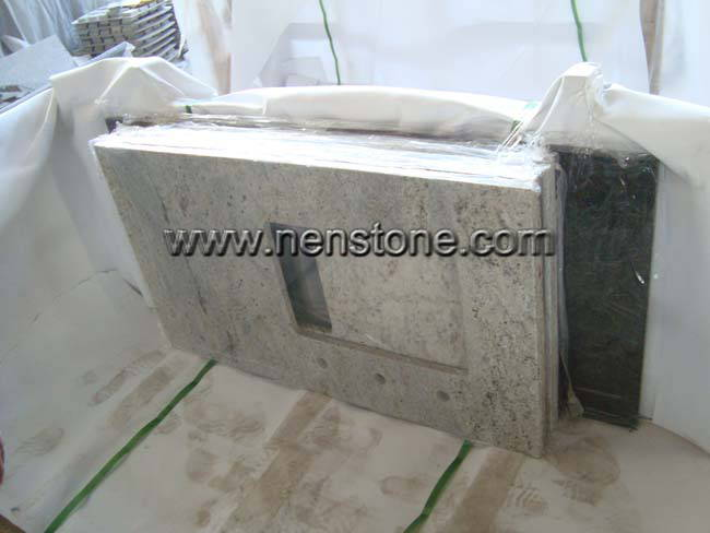 Kashmir White Granite Vanity Tops Bathroom Countertops