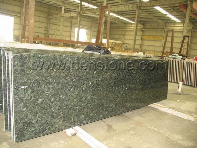 Peacock Green Granite Countertop Green Kitchen Tops