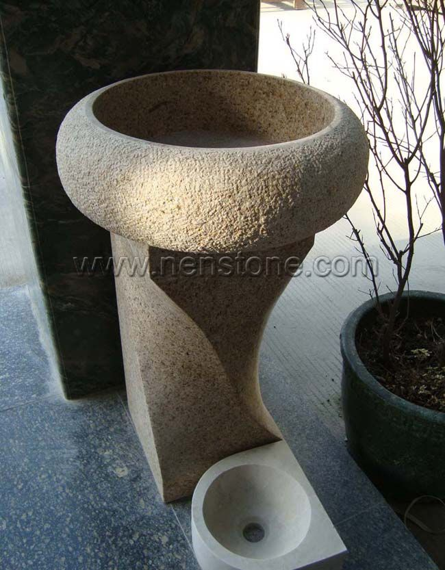 Stone Pedestal Sink : natural stone pedestal sinks granite pedestal basins marble pedestal ...