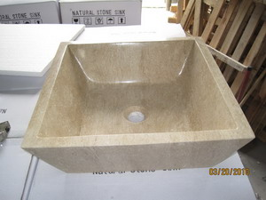 Beige Travertine Sink