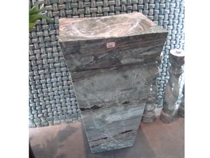 square marble pedestal sinks